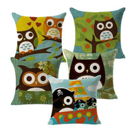 Vintage Cotton Cover Owl Linen Pillow Case  Waist Throw Cushion Home B2 - Bleuette Global