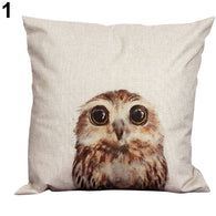 Vintage Cotton Cover Owl Linen Pillow Case  Waist Throw Cushion Home B1 - Bleuette Global