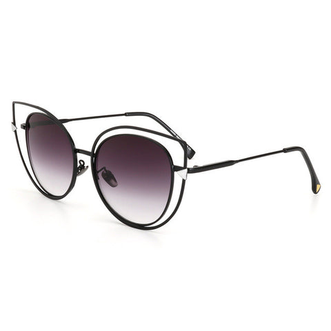 Classic UV400 Alloy Frame Cat Eye Sunglasses for Women - Bleuette Global