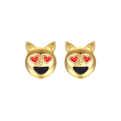 1 Pair New Fashion Simple Dog Head Alloy Women Stud Earrings - Bleuette Global
