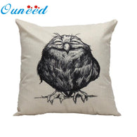 Vintage Cotton Cover Owl Linen Pillow Case  Waist Throw Cushion Home B8 - Bleuette Global