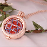 Vintage Locket Essential Oil Diffuser Necklace And Pad Fragrance A - Bleuette Global