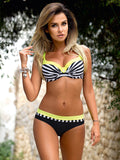 2018 Women's Push Up Maillot Striped Bikinis (S- XXL) - Bleuette Global