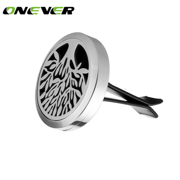 Mini Stainless Steel Magnet Car Air Vent Clip Aromatherapy Essential Oil Diffusers - Bleuette Global