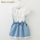 2018 Girl's Cute White/Blue Sleeveless Cotton Summer Dresses - Bleuette Global
