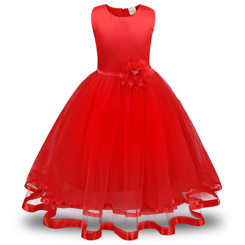 Flower Girl Princess Bridesmaid Pageant Tutu Tulle Gown Party Wedding Dress - Bleuette Global