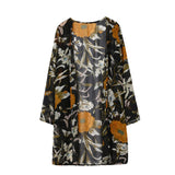Women Floral Print Blouse Chiffon Long Sleeve Cardigan Tops - Bleuette Global