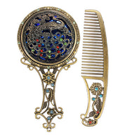 Vintage Hair Comb and Mirror - Bleuette Global