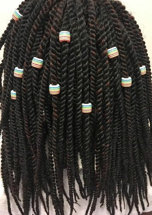 Striped Loc/Braid beads