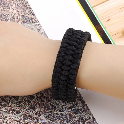 Image of Steel Buckle ParaCord Rope Bracelet - 101survivalgear.com
