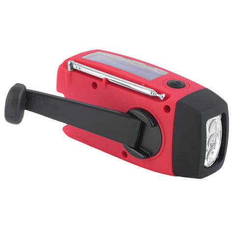 Image of Solar Hand Crank Flashlight Radio - 101survivalgear.com