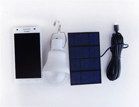 Image of Solar Powered Portable Led Bulb - 101survivalgear.com