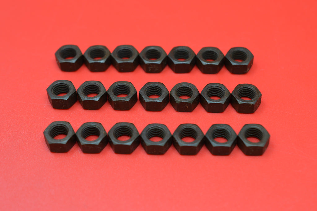 0112-21K Transmission Cover, Top Brake & Clutch Rod Nuts. Qty 21 Parkerized