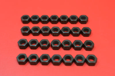 0112-28K Transmission Cover, Top Brake & Clutch Rod Nuts. Qty 28 Parkerized