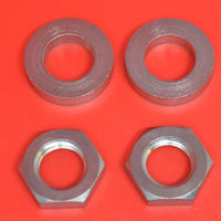 0120 Cylinder Plug Nuts and 34-17 Cylinder Plug Washers. 2 of Each Harley JD J F