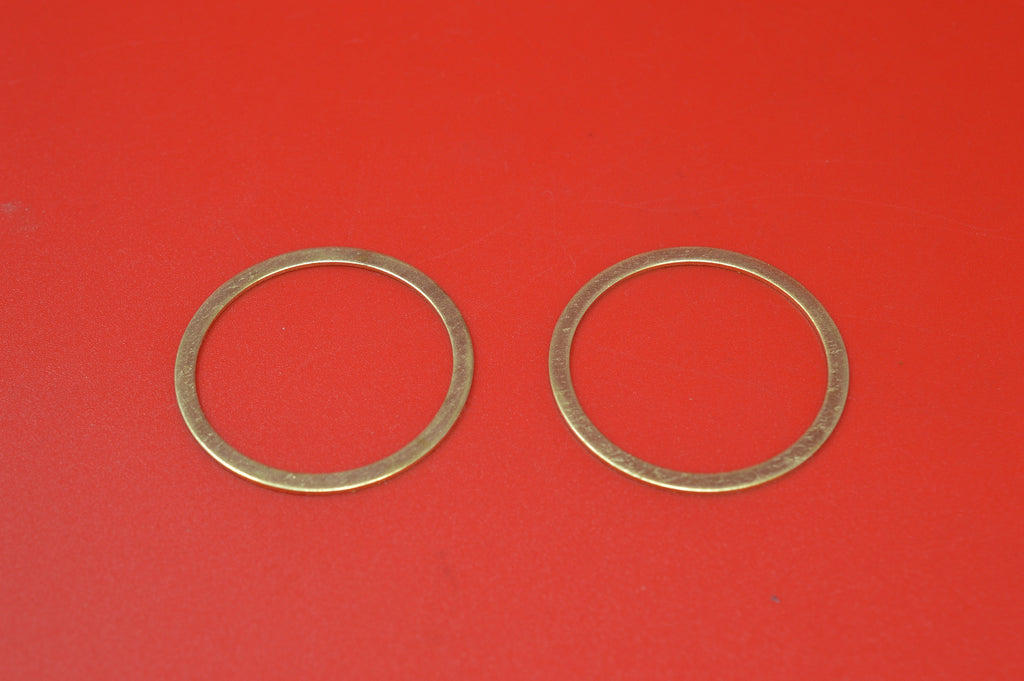 "1000-15 HARLEY JD EXHAUST PIPE NIPPLE BRASS O-RING 1915-1929 61"" TWINS"