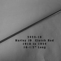 "2424-18 Harley JD Foot Clutch Rod with Nuts. 16.5""   1918-1924 Three Speed Twins"