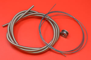 3338-09K THROTTLE AND SPARK CABLE. INDIAN, MERKEL, Etc. HARLEY J JD F FD
