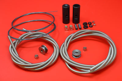 3338K 3334-12 Harley JD Throttle cable and Spark control coil set. 1909 to 1930