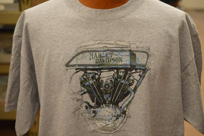 Harley Davidson 8 Valve Tee Shirt - Competition Distributing