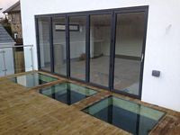 Mirfield Walk Over glass & BiFold doors