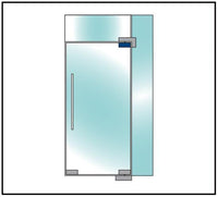 Top frameless glass door patch fitting - Wakefield Glass & Aluminium