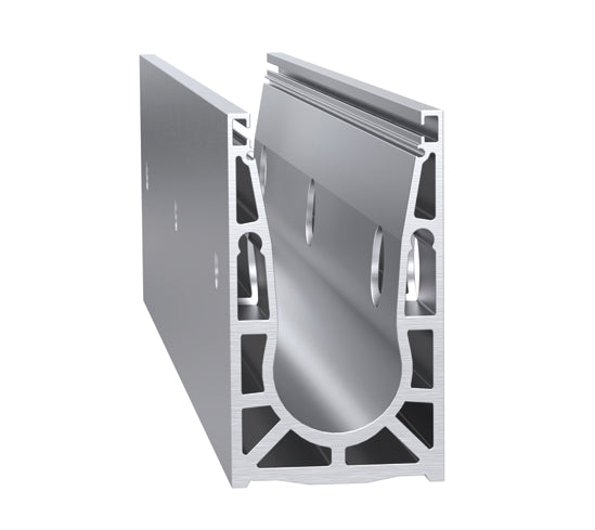 Vetro surface mounted base channel - Wakefield Glass & Aluminium