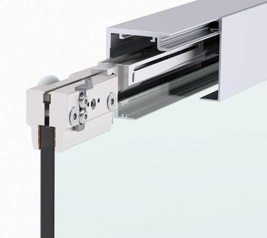 Master Track Ft 60 ceiling mounted door track - Wakefield Glass & Aluminium