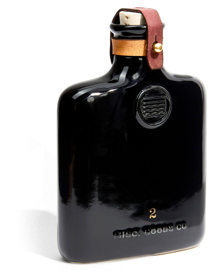 Misc. Goods Co. - Black Ceramic Flask