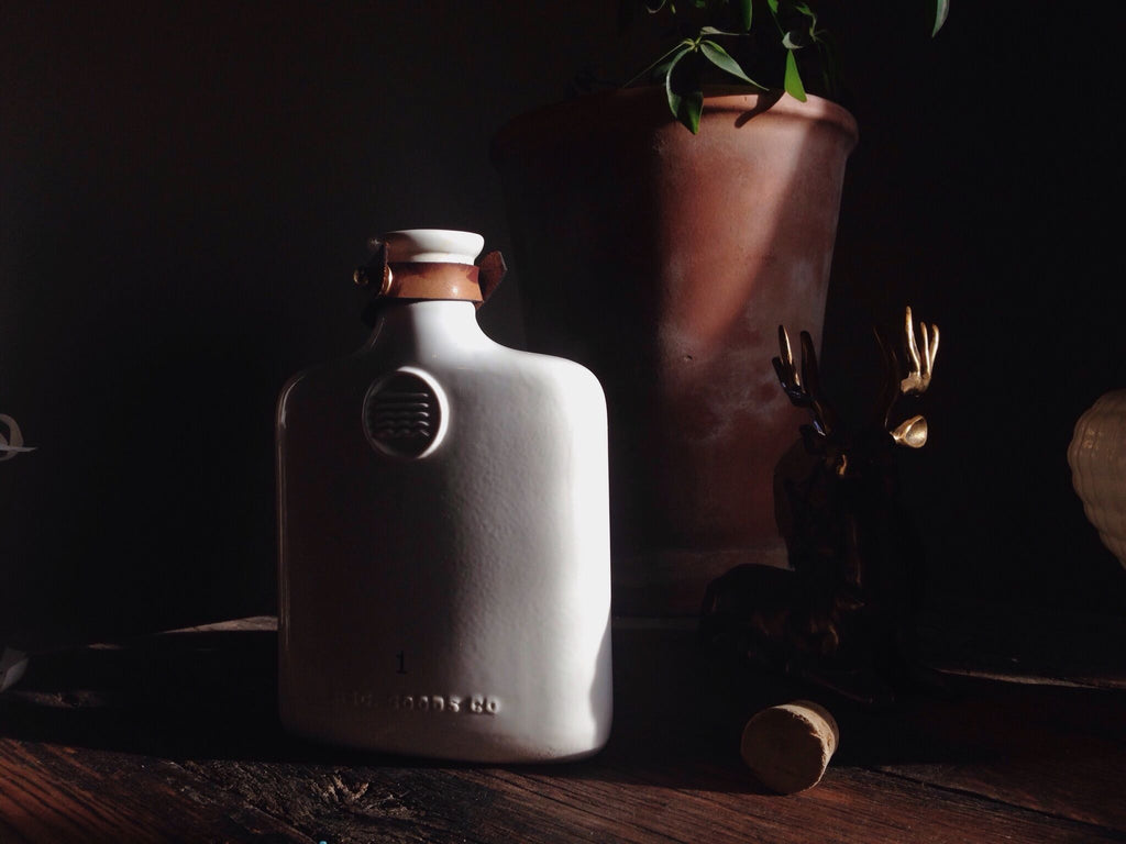 Misc. Goods Co. - Ivory Ceramic Flask