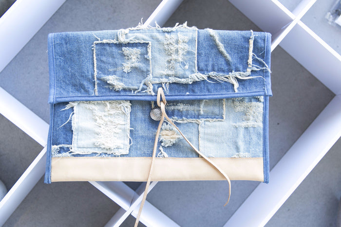 Japan Blue - Patchwork Clutch