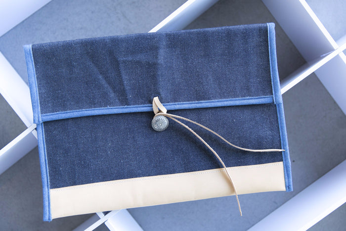 Japan Blue - Raw Denim Clutch