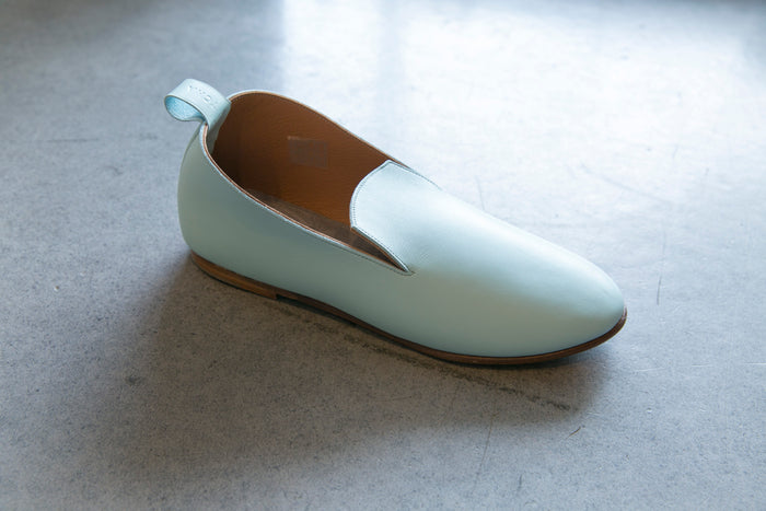 La Charentaise - Nappa Leather, Light Blue