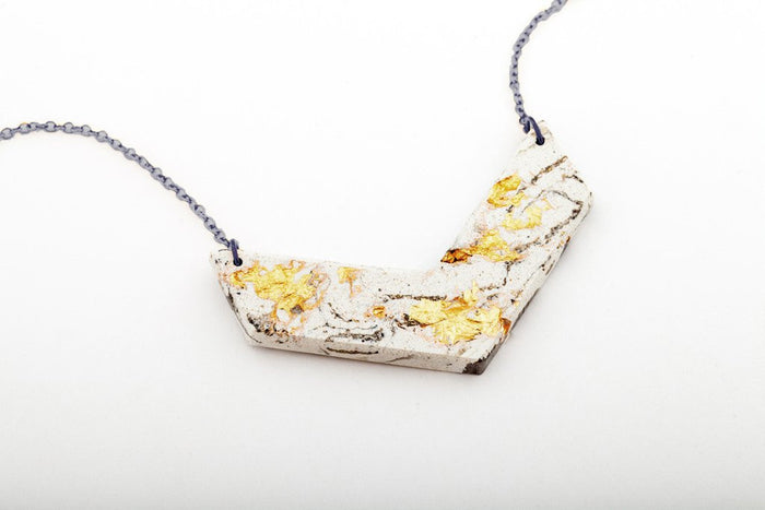 dconstruct Jewelry - Marble Concrete Necklace