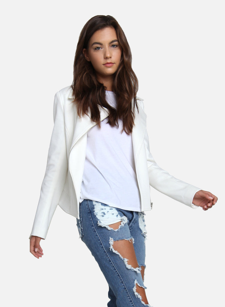 James Jeans - Moto Jacket, White Ponte