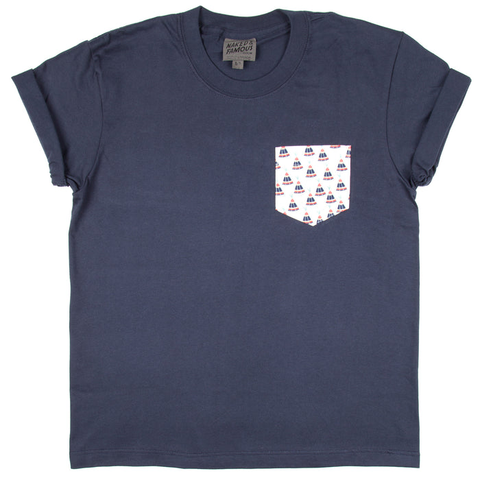 Naked & Famous - Pocket Tee - Navy