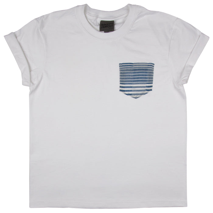 Naked & Famous - Pocket Tee - White