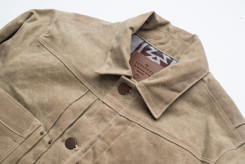 Freenote Cloth - Riders Jacket Waxed Canvas - Tobacco