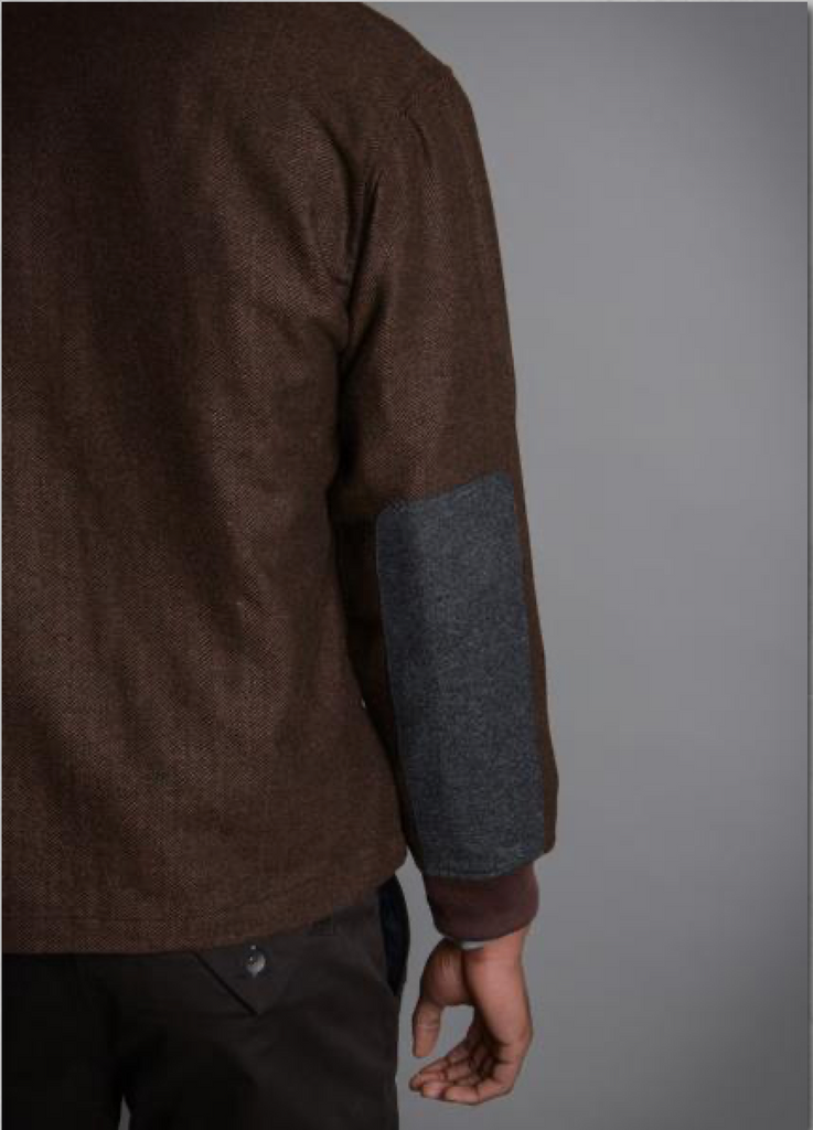 Descendant of Thieves - Raw Inland Shawl, Brown