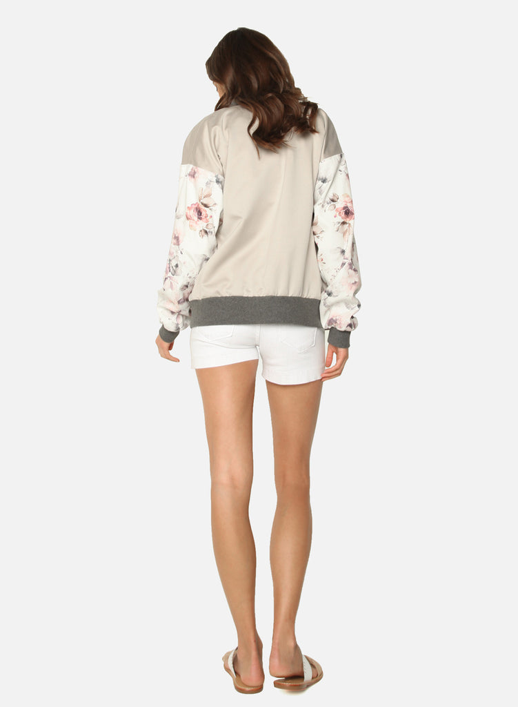James Jeans - Varsity Jacket, Silk Flower