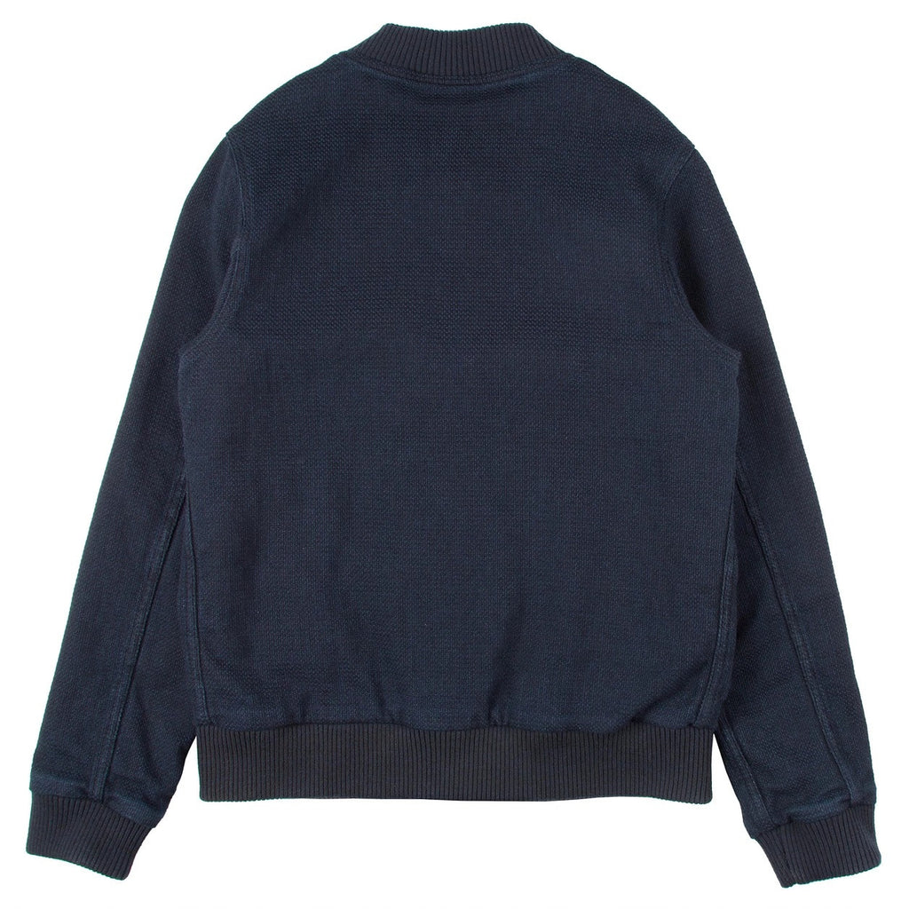 Naked & Famous - Bomber Jacket - Indigo Basketweave