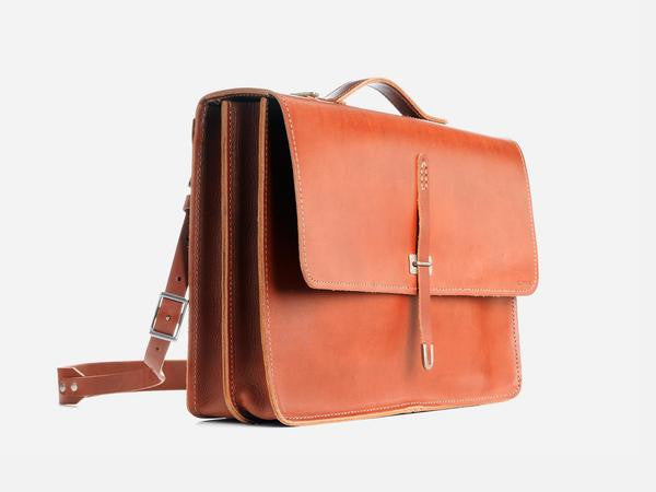 Billykirk - Large Schoolboy Satchel, Tan