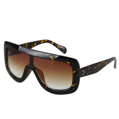 Large Oversized Flat Top Sunglasses