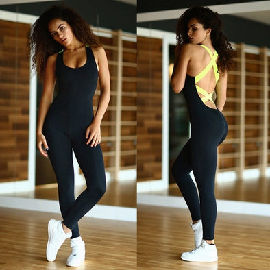 One-Piece Sleeveless Fitness Jumpsuits