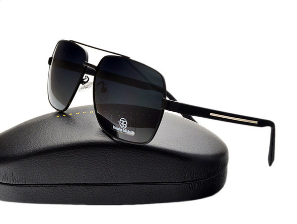 Square Frame Polarized Aviator Sunglasses