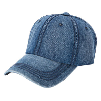Curved Adjustable Denim Baseball Cap