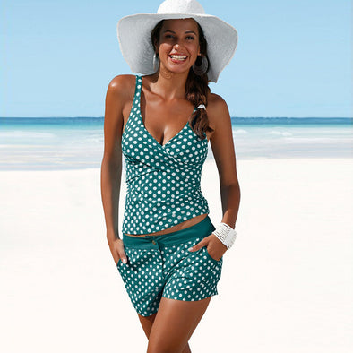 Polka Dot Two Pieces Tankini Set