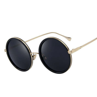 Women's Round Retro Sunglasses