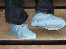 10PK SHOE COVERS NON-SKID