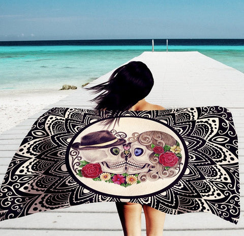 Skeleton Mandala Tapestry